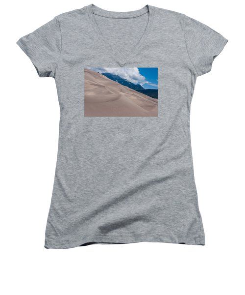Miles Of Sand Women's V-Neck T-Shirt (Junior Cut) by Colleen Coccia