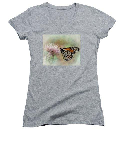 Monarch Butterfly Women's V-Neck