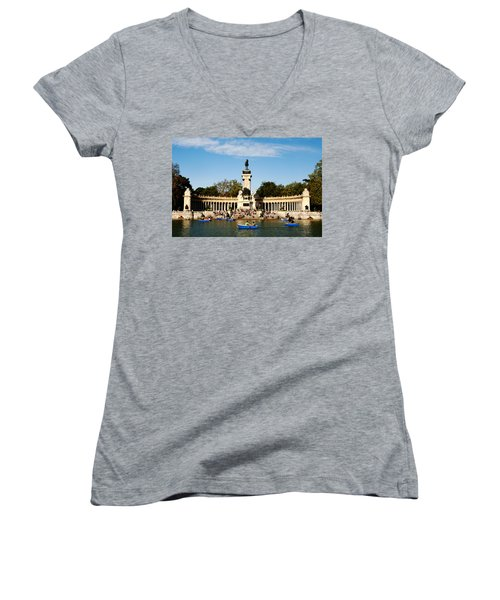 Monument To Alfonso Xii Women's V-Neck