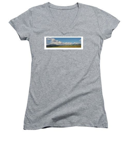 Moreno Valley Clouds Women's V-Neck T-Shirt