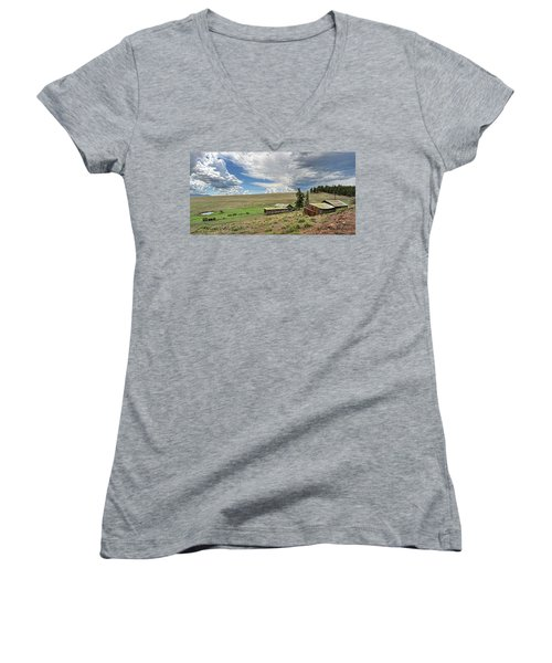 Moreno Valley Ranch Women's V-Neck T-Shirt
