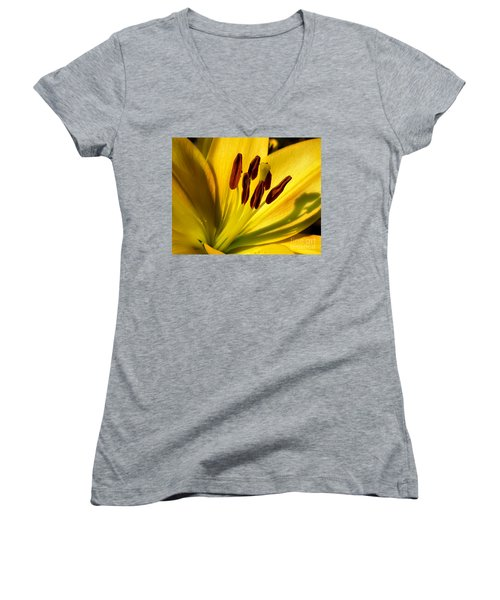 Morning Yellow Women's V-Neck (Athletic Fit)