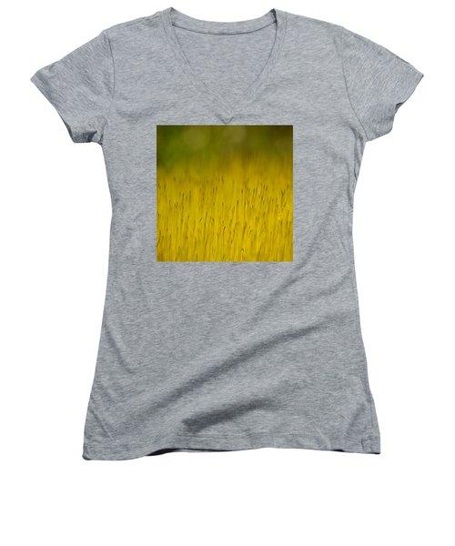 Moss In Yellow Women's V-Neck