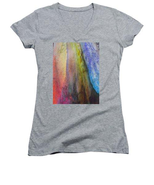 Women's V-Neck T-Shirt (Junior Cut) featuring the digital art Move On by Richard Laeton