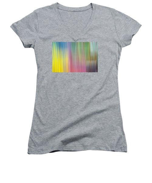 Moving Colors Women's V-Neck T-Shirt (Junior Cut) by Susan Stone