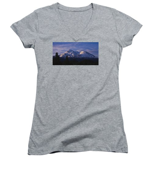 Mt Shasta Women's V-Neck T-Shirt