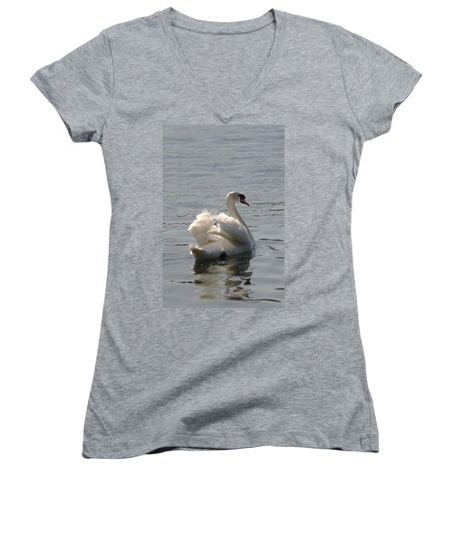 Mute Swan Women's V-Neck (Athletic Fit)