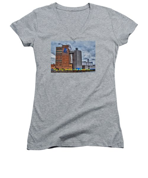 My City Smells Like Cheerios Women's V-Neck (Athletic Fit)