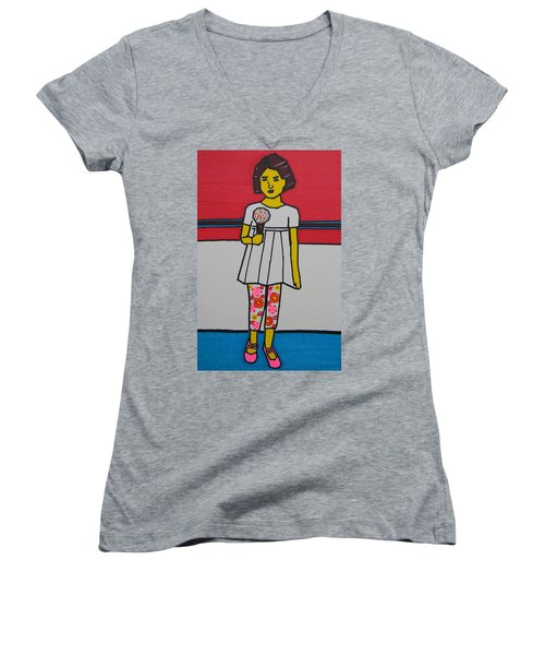 My Ice Cream  Women's V-Neck (Athletic Fit)