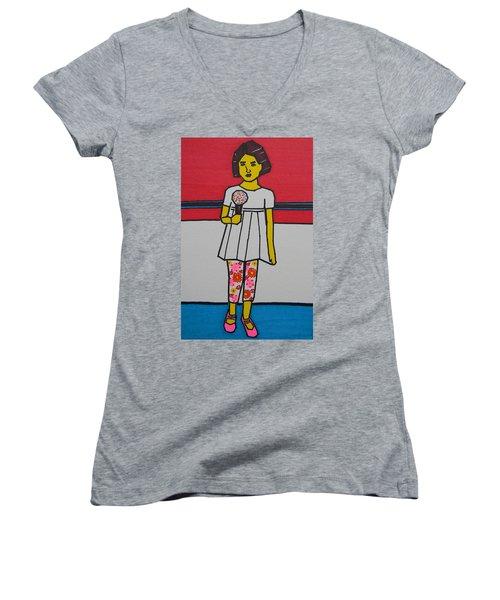 My Ice Cream  Women's V-Neck T-Shirt
