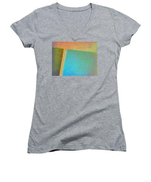 Women's V-Neck T-Shirt (Junior Cut) featuring the digital art My Love by Richard Laeton