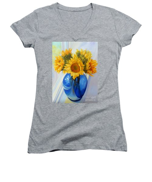 My Sunflowers Women's V-Neck T-Shirt