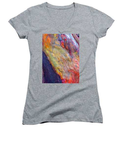 Women's V-Neck T-Shirt (Junior Cut) featuring the digital art Mystics Of The Night by Richard Laeton