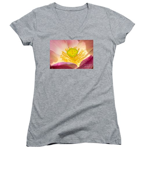 Women's V-Neck T-Shirt (Junior Cut) featuring the photograph Nature by Luciano Mortula