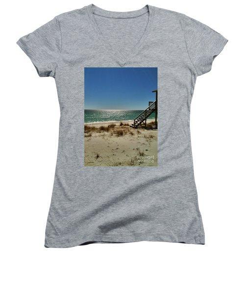 Navarre Beach Women's V-Neck T-Shirt