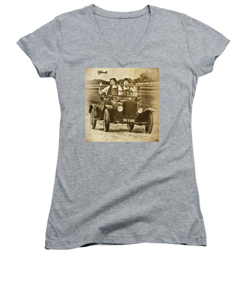 Not Likely Laurel And Hardly Hardy Women's V-Neck