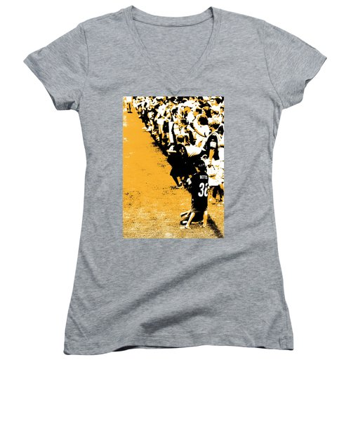 Number 1 Bettis Fan - Black And Gold Women's V-Neck
