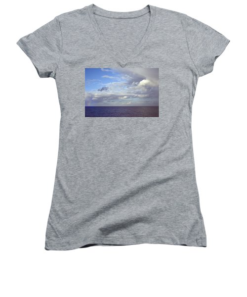 Ocean View Women's V-Neck T-Shirt (Junior Cut) by Mark Greenberg