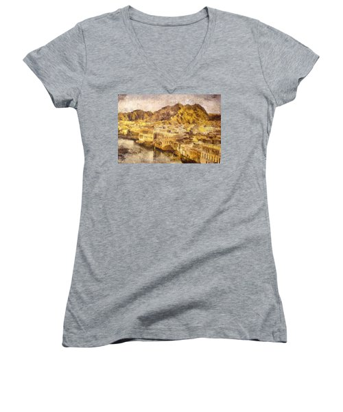 Old City Of Muscat Women's V-Neck T-Shirt