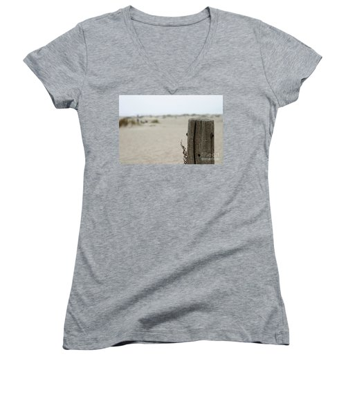 Old Fence Pole Women's V-Neck T-Shirt