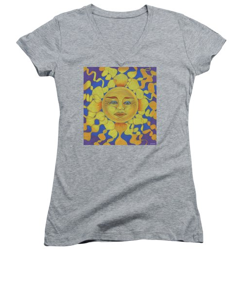 Old Man Sun Women's V-Neck T-Shirt