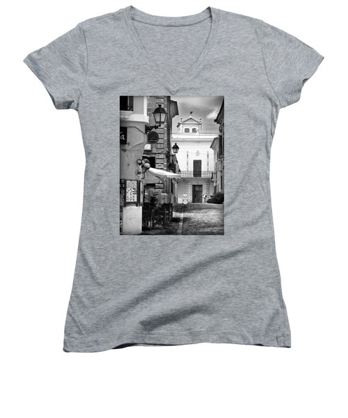 Women's V-Neck T-Shirt (Junior Cut) featuring the photograph Old Town by Pedro Cardona
