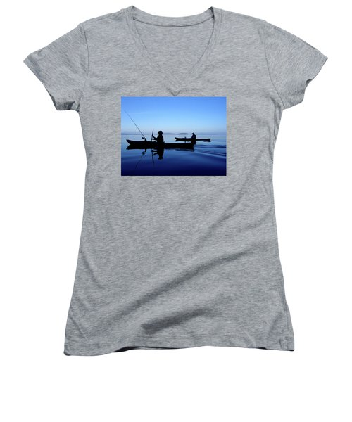 On The Deep Blue Sea Women's V-Neck