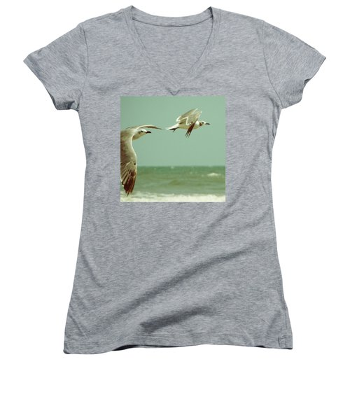 On The Wings Of A Seagull Women's V-Neck (Athletic Fit)