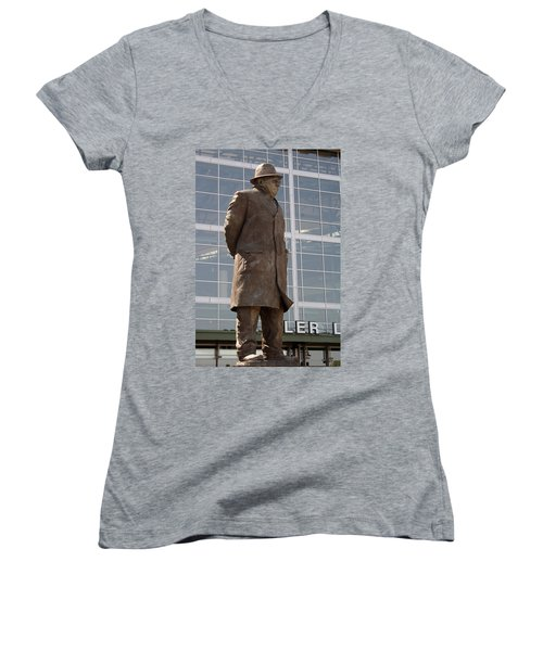 Women's V-Neck T-Shirt (Junior Cut) featuring the photograph One Of The Greatest by Kay Novy