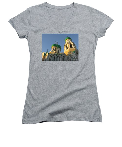 Orthodox Church Of Sts Michael And Constantine- Vilnius Lithuania Women's V-Neck (Athletic Fit)