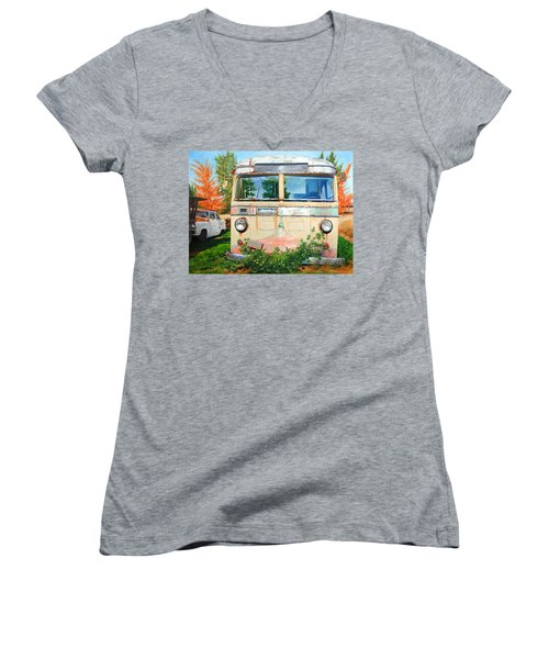 Out Where The Buses Don't Run Women's V-Neck T-Shirt
