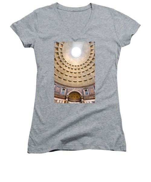 Women's V-Neck T-Shirt (Junior Cut) featuring the photograph Pantheon  by Luciano Mortula