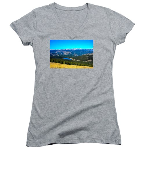 Women's V-Neck T-Shirt (Junior Cut) featuring the photograph Paradise by Shannon Harrington