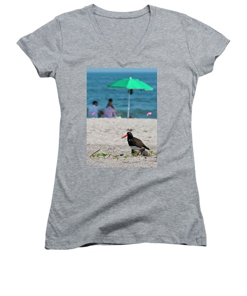 Parenting On A Beach Women's V-Neck