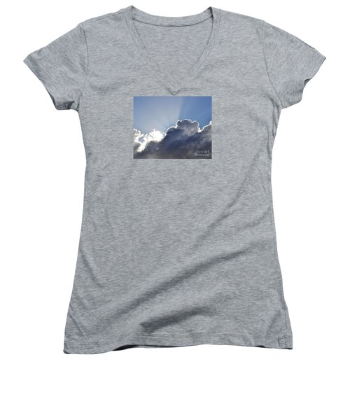 Partly Cloudy Women's V-Neck T-Shirt