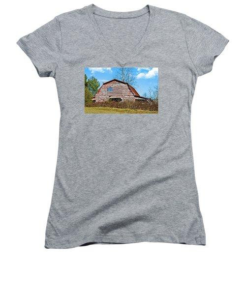 Patriotic Barn Women's V-Neck T-Shirt