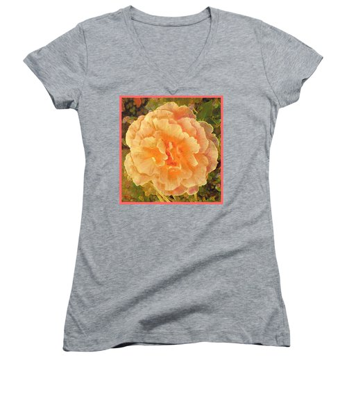 Peach Begonia Women's V-Neck (Athletic Fit)
