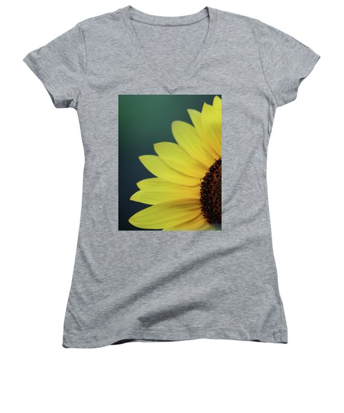 Women's V-Neck T-Shirt (Junior Cut) featuring the photograph Pedals Of Sunshine by Cathie Douglas