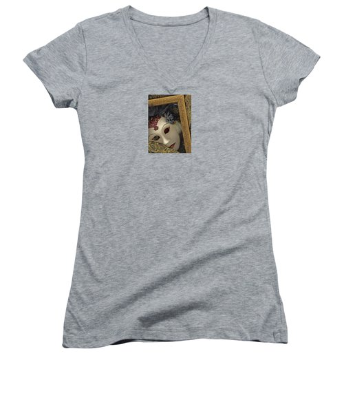 Pensive Women's V-Neck T-Shirt (Junior Cut)