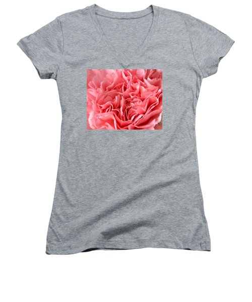 Pink Carnation Women's V-Neck