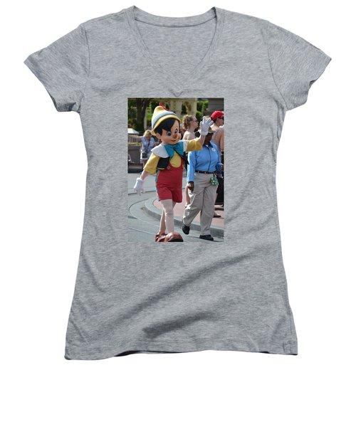 Pinocchio Women's V-Neck T-Shirt