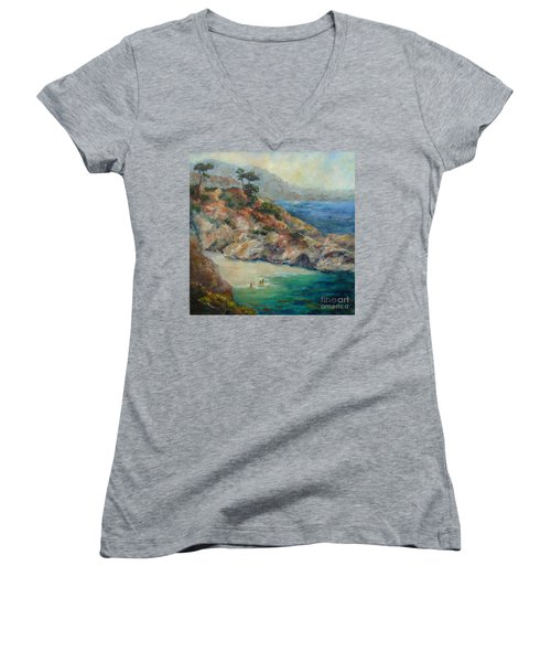 Pt Lobos View Women's V-Neck