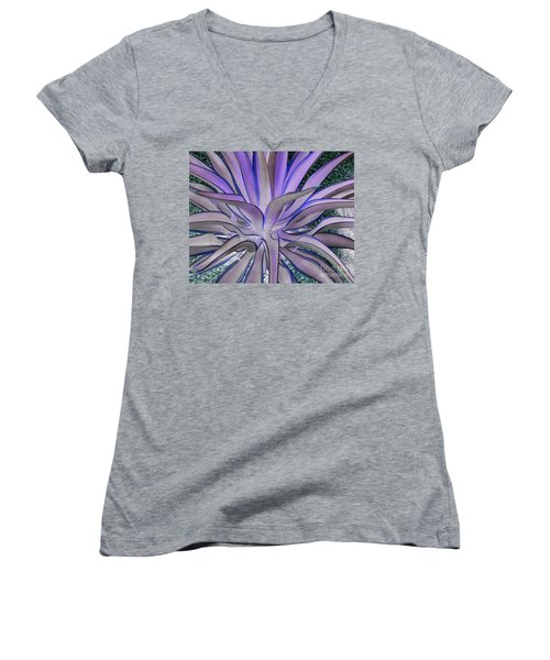 Purple Aloe Women's V-Neck (Athletic Fit)