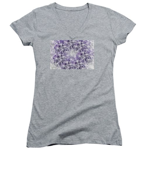 Purple Wishes Women's V-Neck (Athletic Fit)