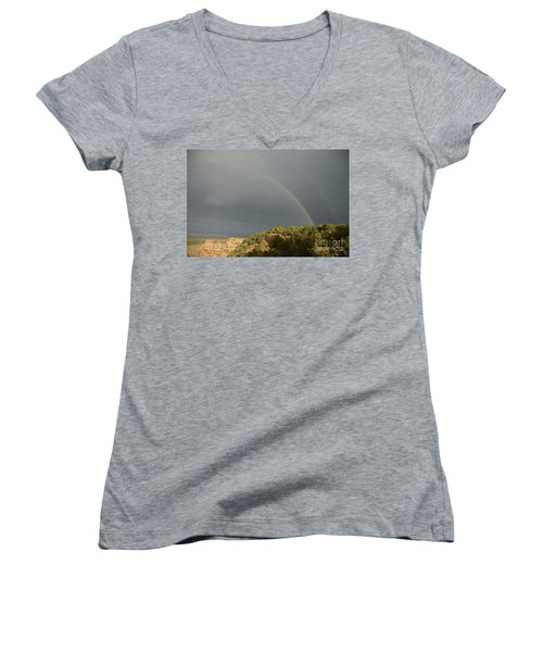 Rainbow At Grand Canyon Women's V-Neck T-Shirt
