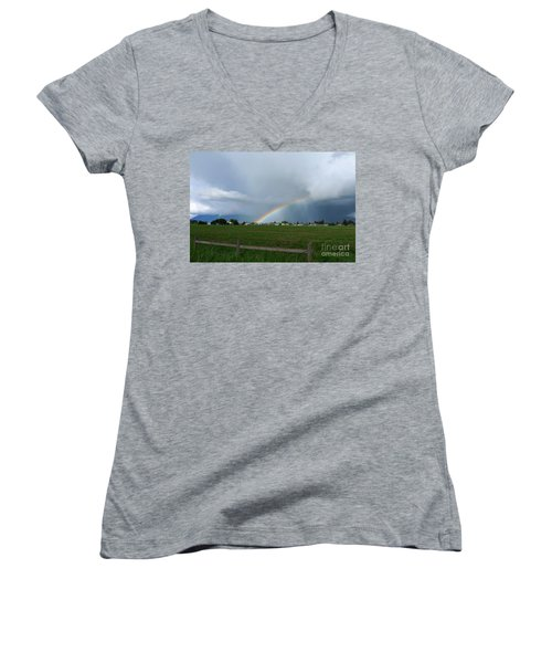 Rainbow Before The Storm Women's V-Neck T-Shirt