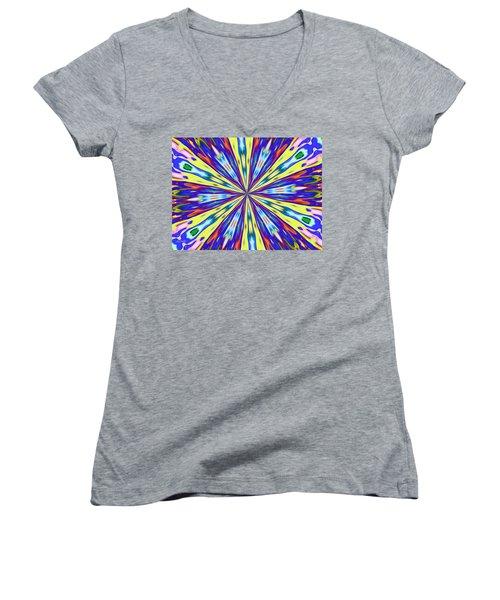 Rainbow In Space Women's V-Neck T-Shirt (Junior Cut) by Alec Drake