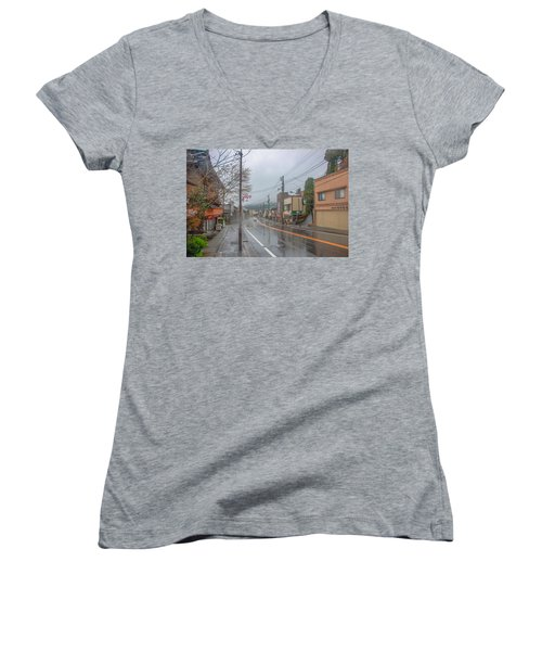 Rainy Day Nikko Women's V-Neck T-Shirt