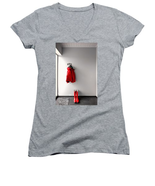 Ready For Rain Women's V-Neck T-Shirt