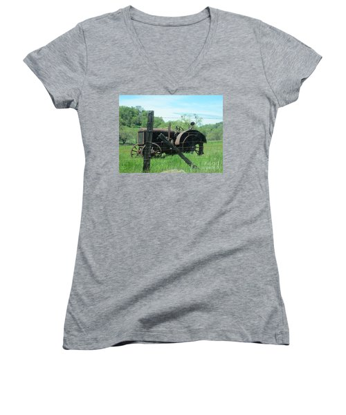 Retired Women's V-Neck T-Shirt (Junior Cut) by Laurianna Taylor